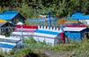 AK-E8-1984.3#00062.3. Spirit Houses in the Saint Nicholas Cemetery, Eklutna Alaska.