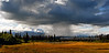AK-2008.8.22#014. A cloud burst in front of the central Alaska range mountains. Near Chulitna Alaska.
