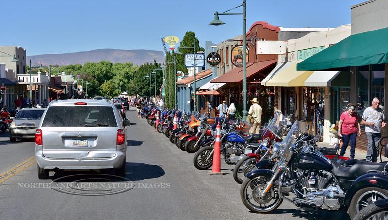 "AZ-2019.9.21#361.2. Biker Rally in ""Old Town"" Cottonwood Arizona."