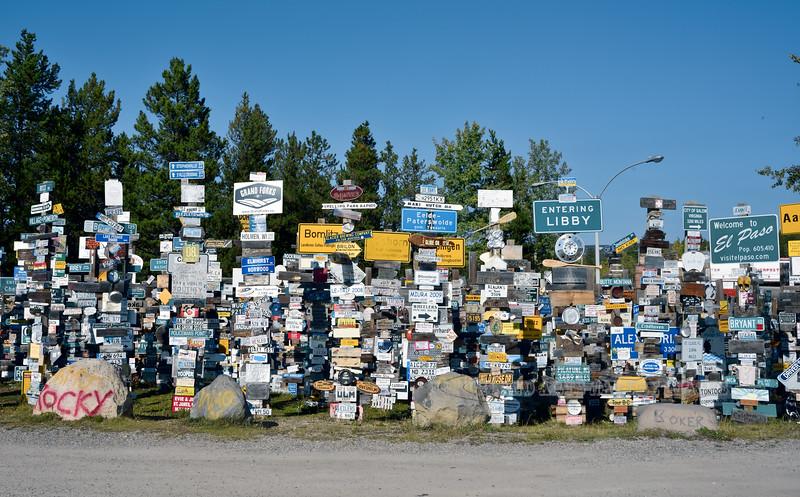 CANYK-WLsp-2017.9.5#156.2. Watson Lake Sign Posts, Watson Lake, Yukon Territory Canada.