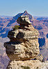 AZ-GCNP2020.1.14#6997.2. Duck on a Rock aligned with Vishnu Temple. Grand Canyon Park Arizona.