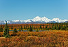 AK-2006.9.4#0003.2. A spectacular view of the east side of Denali and the Alaska Range shot from the Parks Highway south of Cantwell Alaska.