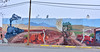 NM-MA-2019.11.11#2812.3. Street Art in Mountainair New Mexico. Honoring the first Santa Fe Railway link in 1908.