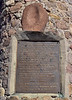 AZ-2019.11.8#3808.2. The plaque with some of the details of Geronimo's surrender. Near Apache,  the closest highway place near Skeleton Canyon where the surrender actually took place, Cochise County Arizona.