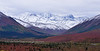AK-DNP-2012.8.28#019. After a day of mostly low clouds it starts to clear and reveal another early snow in the upper Savage river country. When you've lived here for a while you realize this is the last day of fall, or the first day of winter. Denali Nat. Park Alaska.