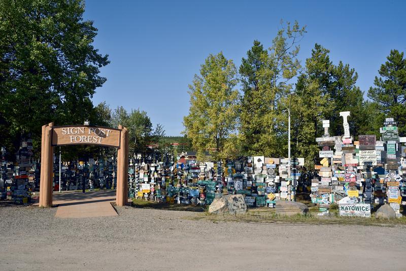 CANYK-WLsp-2017.9.5#155.3. Watson Lake Sign Posts. Watson Lake, Yukon Territory Canada.