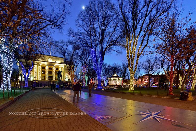 AZ-P2017.12.23#067. Christmas Lights in Town Square. Prescott, Arizona.