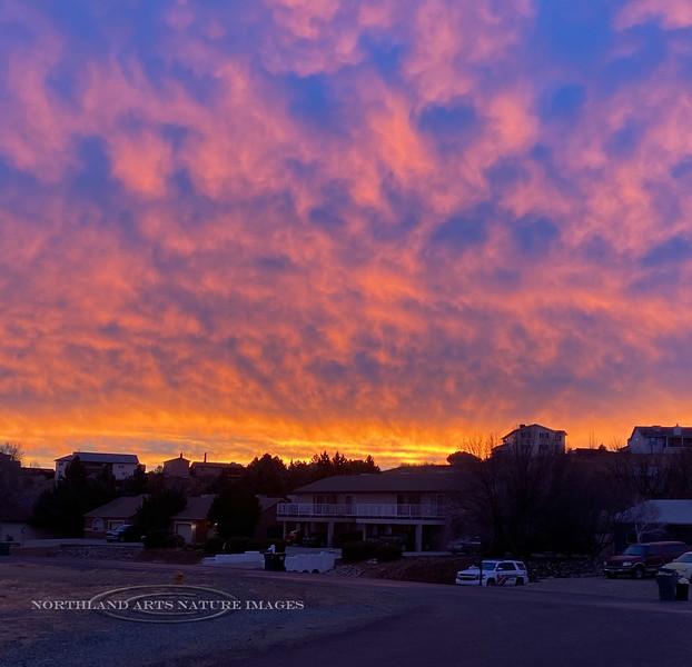 AZ-2020.12.31#0210.4. Sunrise over the Agua Fria, Prescott Valley Arizona. Photo by Mary Lou B.