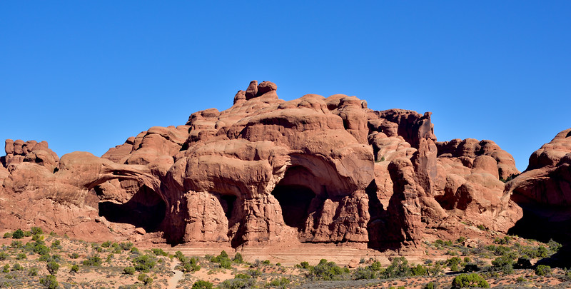UT-ANP2017.10.6#158.The Double Arches formation. Arches Park Utah.