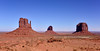 AZ-MVNP, Monument Valley, West Mitten, East Mitten and Merrick Buttes. Arizona/Utah. #105.022.
