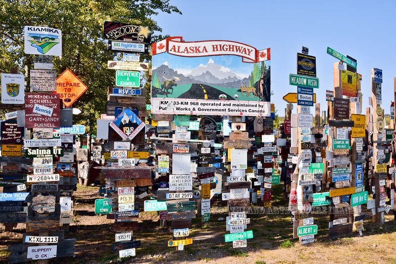 CANYK-WLsp-2017.9.5#161.3. Watson Lake Sign Posts.