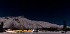 AK-2010.12.16#011.3. Many nights when Northern Lights were predicted I drove to Sheep Mountain and spent most of the  night hoping to get them over this scene of the Lodge with the Big Dipper but I never got it. Talkeetna mountains Alaska.