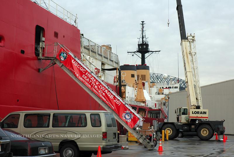 WA-2007.11.6#200.2. US Coast Guard Cutter Healy (WAGB 20). 1519 Alaska Way S, Seattle Washington.