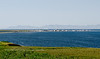 AK-SPt-2015.6.22#030.3. A view of Teller on the very narrow spit jutting out into Port Clarence. Teller is the end of the Nome to Teller road.