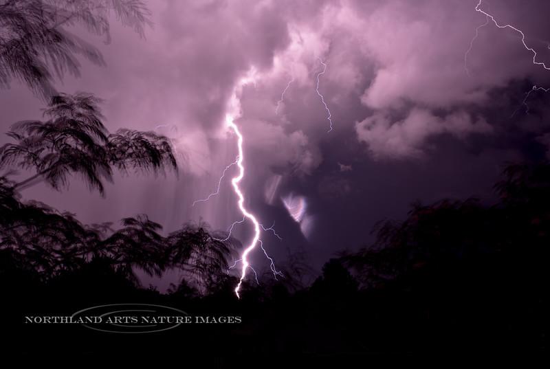 AZ-2017.7.29#027. Typical Monsoon Lightning. Prescott Valley, Arizona.