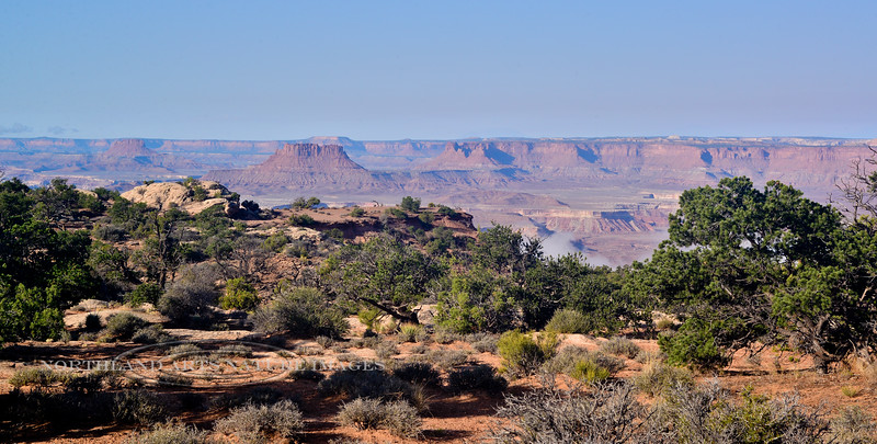 UT-CNP2017.9.16#1488. Mourning in the Canyonlands. Canyonlands National Park, Utah.