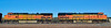 AZ-Burlington Northern & Santa Fe Railroad Engines. Williams, Arizona. #1128.010.