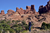 UT-ANP2017.10.6#151. Mary Lou near the Garden of Eden, Arches National Park Utah.