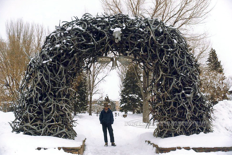 WY-1985.3#063.4. The original famous Elk Horn Arch in Jackson Hole Wyoming.