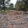 AZ-GCNP, Tusayan ruins, living rooms. Grand Canyon, Arizona. #1129.247.
