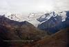 AK-2001.9.20#2867.3. A view on a magic carpet ride from a Super Cub of upper Eagle River Valley and Eagle Glacier. Chugach Mountains Alaska.
