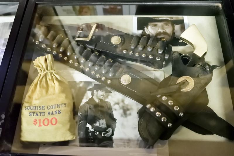 AZ-GFM-2018.10.8#006.2. prop's from the TV movie Tombstone. Gun Fighter's Museum, Tombstone Arizona.
