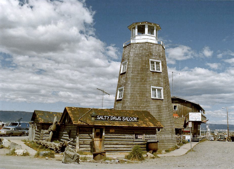 AK-1987.8#002.3X. The Historic Salty Dog Saloon near the end of the Homer Spit Alaska.