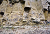 WY-2017.9.14#360.2. The base of a Columnar Basalt Flow in the Grand Canyon of the Yellowstone near Tower Falls. Yellowstone Park Wyoming.
