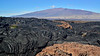HI-2015.2.2#001. Looking from A lava flow on Mauna Loa across the Mauna Kea. Hawaii.