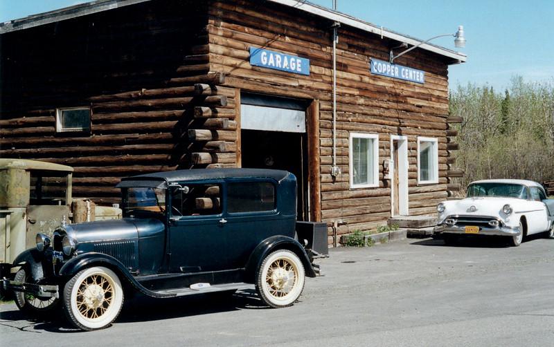 "AK-2001.5.8#61.3. The garage in ""Old Town"" Copper Center Alaska."