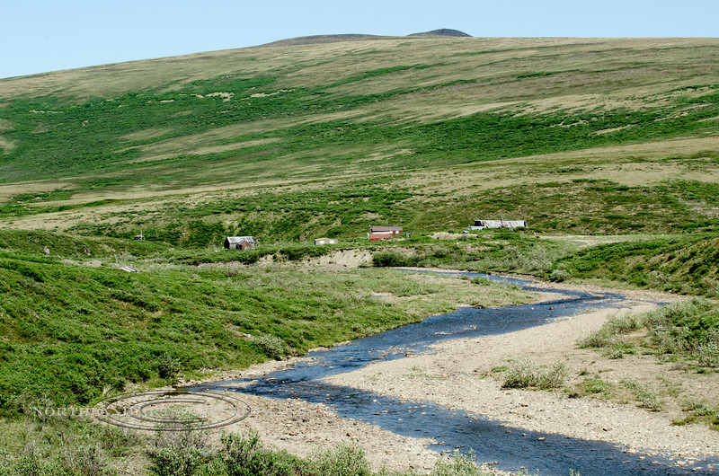 AK-SPt-2015.6.22#029.2. The view of Sullivan City from mile 54.9 of the Nome to Teller Highway. Seward Peninsula Alaska.