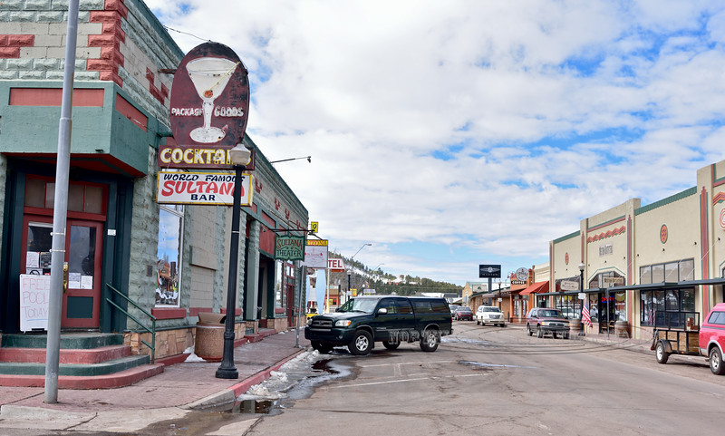 AZ-W-2019.2.27#027.2. Looking west on Old Route 66, the main street in Williams Arizona.