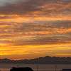Panorama sunset from above Everett Marina.