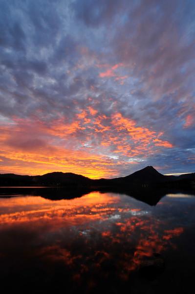 Sunrise on Lake Estes, Estes Park, CO