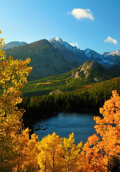 Bear Lake in autumn. Rocky Mountain National Park, Estes Park, CO