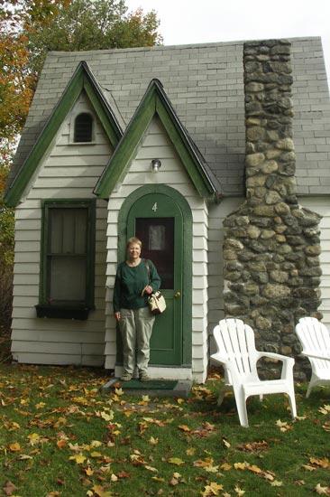 Beverly at our cottage, Hearthside Village in Bethlehem, NH