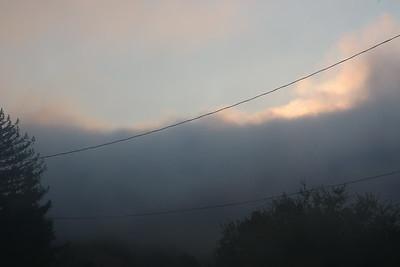 Sunshine over a fog bank