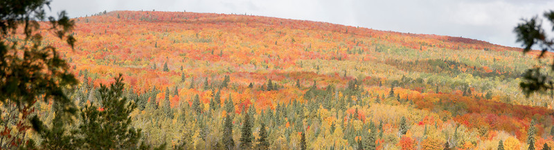 A photo stitch panorama of a ridge that the trail paralleled for several miles.