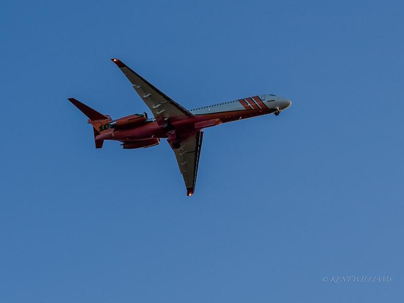 Big tanker bomber overhead