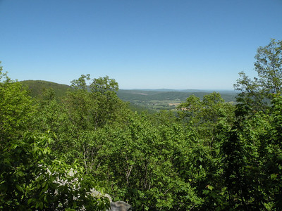 View from Donnelly's Overlook Cumberland Trail Brady Mtn TN