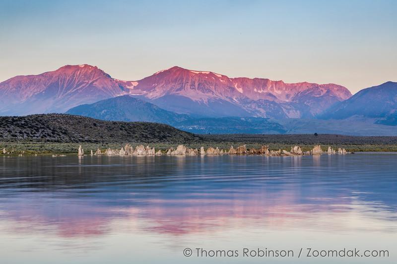 High Sierras Alpenglow on Mono Lake