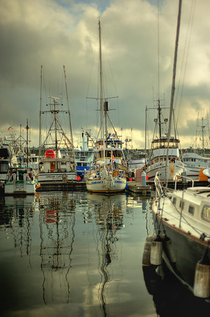 Boat reflections, Fishermen's Terminal