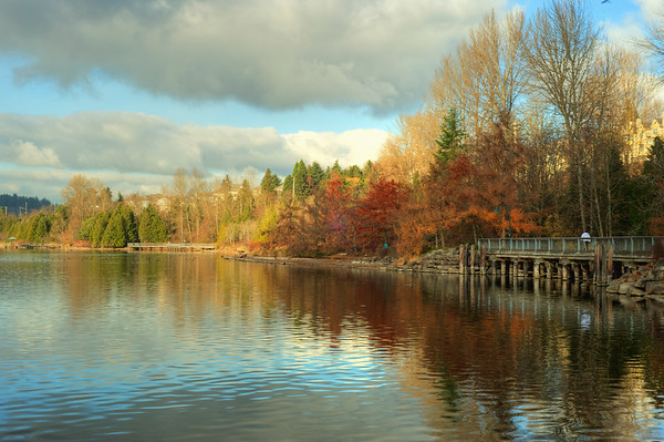 Fall at Gene Coulon Park