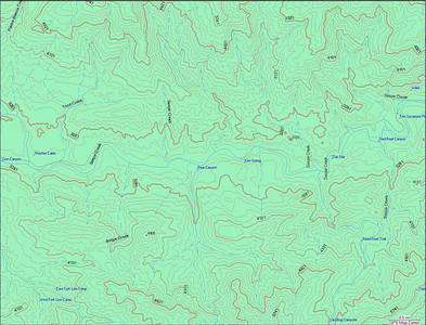This is from my garmin software. You can see Lions Camp in the middle left side, and you can see Wilet on the upper right side. The entire hike is about 9.5 miles +/- 0.5 one way.
