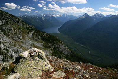 Chilliwack Lake and River from Williams Ridge...  The floor of the canyon is from where I hiked
