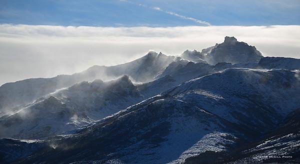 Winter winds on Mt. Healy, Alaska