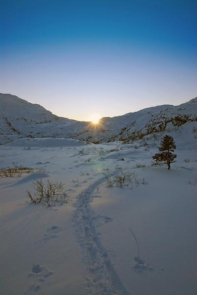 På ski mot Steinset..