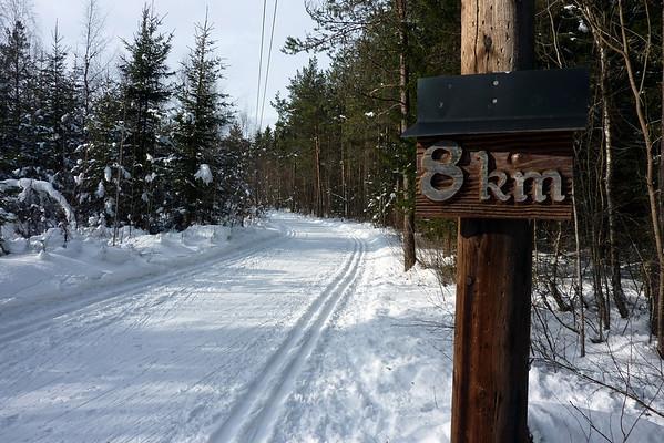 Tur 10km løypa i Bømoen 02.03.2010.