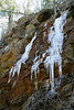"Another view of the ice ""falls"" along Burnt Mountain Road."