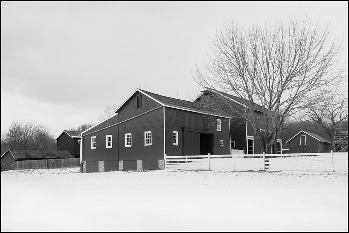 Farm Buildings in Winter (74687893)